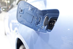 Electric vehicle plug in connector Stock Photos