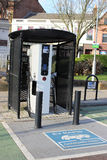 Electric vehicle recharging point in Ayr, Scotland Stock Photography