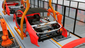 Electric vehicles battery assembly line