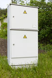 Electric village metal box Royalty Free Stock Photography