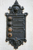 Electric vintage gothic doorbell Stock Images