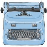 Electric vintage Typewriter art painting Stock Photos