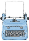Electric vintage Typewriter with paper art painting Royalty Free Stock Image