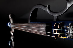 Electric violin. Modern orchestra musical instrument used in con Stock Photos
