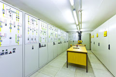 Electric voltage control room Royalty Free Stock Photos
