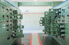 Electric voltage control room of a plant Stock Photography