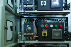 Electric voltage control room of a plant Royalty Free Stock Photo