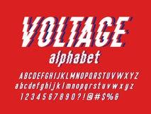 Electric font vector illustration