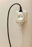 Electric wall outlet Royalty Free Stock Photos