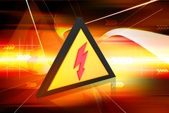 Electric warning Stock Images