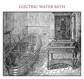Electric water bath,vintage illustration Royalty Free Stock Photos