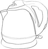 Electric water boiler. Outlined illustration of an electric water boiler Stock Photo