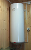 Electric water heater hanging Royalty Free Stock Images