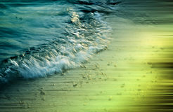 Electric wave. Creative edit of beach wave Stock Image