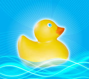 Electric Wave Duck Royalty Free Stock Photos