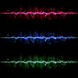 Electric wave pulse collection set Royalty Free Stock Image