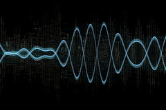 Electric Waves. In a black background vector illustration