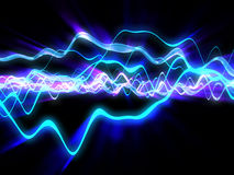 Electric waves vector illustration