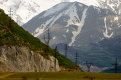 Electric way. In armenian mountains Royalty Free Stock Photos