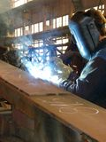 The electric welder Stock Photos