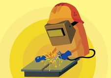 Electric welder Royalty Free Stock Photo
