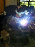 The electric welder stock photography