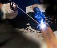 Electric welding Royalty Free Stock Images