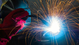 Electric welding Royalty Free Stock Photography