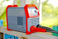 Electric welding machines  in Thailand Royalty Free Stock Image