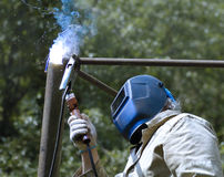 Electric welding Stock Photo