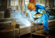Electric welding Stock Photography