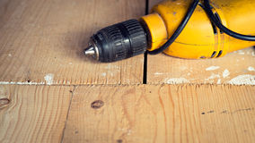 Electric well used power drill, close up Royalty Free Stock Images