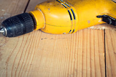 Electric well used power drill, close up Royalty Free Stock Image