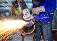 Electric wheel grinding Royalty Free Stock Photos