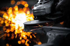Electric wheel grinding Stock Images