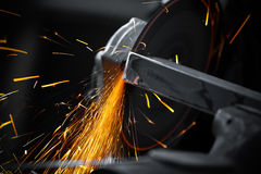 Electric wheel grinding Royalty Free Stock Images
