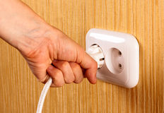 Electric white socket Stock Images