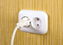 Electric white socket Royalty Free Stock Photos