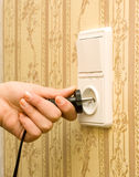 Electric white socket Stock Photography