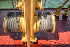 Electric winch on a boat Royalty Free Stock Image