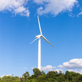 Electric wind mill Stock Photos