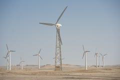 Electric wind turbine generators Stock Images