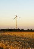 Electric wind turbines Stock Photography