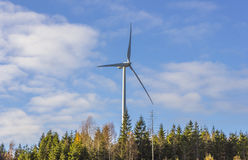 Electric windmill generator tower Stock Photography