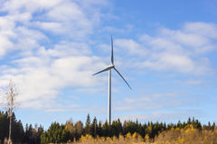 Electric windmill tower generator Stock Images