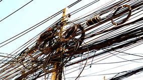 Electric wire and cable in Thailand Royalty Free Stock Photos