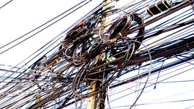 Electric wire and cable zoom in Stock Photo