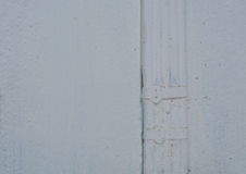 Electric wire painting white color on wall Royalty Free Stock Photo