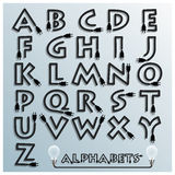 Electric Wire And Plug Alphabets Font Style Stock Image