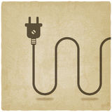Electric wire with plug old background Stock Photos